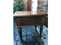 lamp table in teak excellent condition one draw