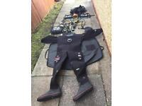 Scuba Diving Set With Equipments