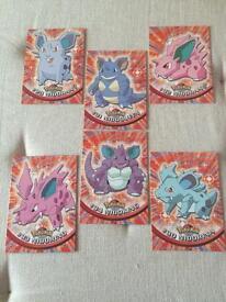 Set of 6 Topps Pokemon Cards