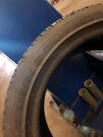 225 40 17 tyre 6mm tread Michelin Pilot HX