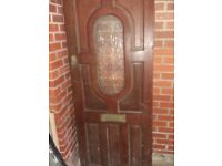 Old Hardwood Front Door - Heavy/Reclaimed