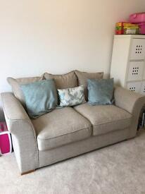 Nearly new Immaculate beige Hugo Scatterback 2 seater sofa