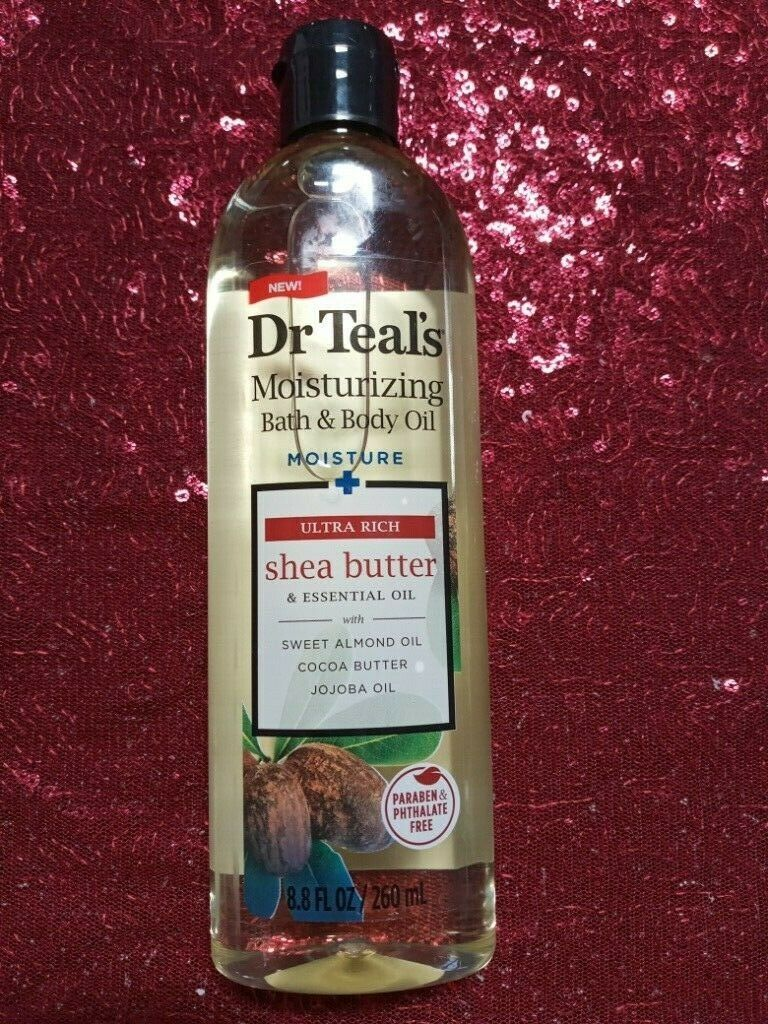 Dr Teal's Coconut Bath Body Oil Jojoba Cocoa Butter Almond E