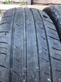2 x 185-65-15 Falken 88 H 4.5 mm Part Worn Tyres In Good Condition