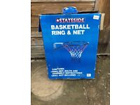 Brand new basket ball hoop with wall fixings.