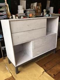 Ikea painted white/crackle glaze unit