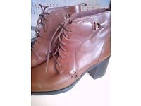 As new Italian leather boots