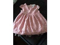 Little john rocha pink dress 3-6 months