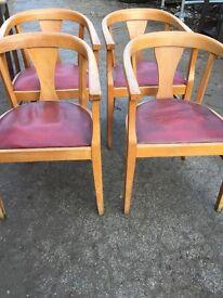 Antique oak chairs