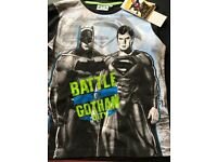 Batman vs Superman Battle for Gotham City T-Shirt - Black - £5.50 - Age 10yrs - Brand New with Tags
