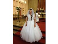 stunning communion dress for sale cost £450 will accept £150. would suit taller girl