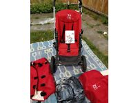 Bugaboo Frog pushchair in red