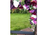 Handmade faux flower mirror