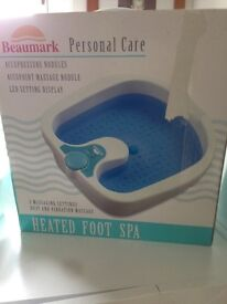 Heated Footspa- Unwanted gift never been used
