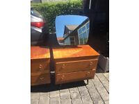 Vintage drawers and dressing table