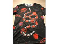 Men's Gucci space snake print tshirt