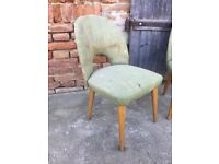 Set of 2 Original Polish Easy Dining Timber Frame Chairs Mid-Century