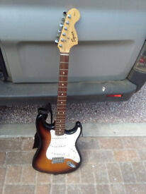 Electric guitar + case