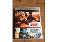 Tom Clancy's rainbow six Vegas 2 & Ghost Recon 2 game bundle PlayStation 3 game