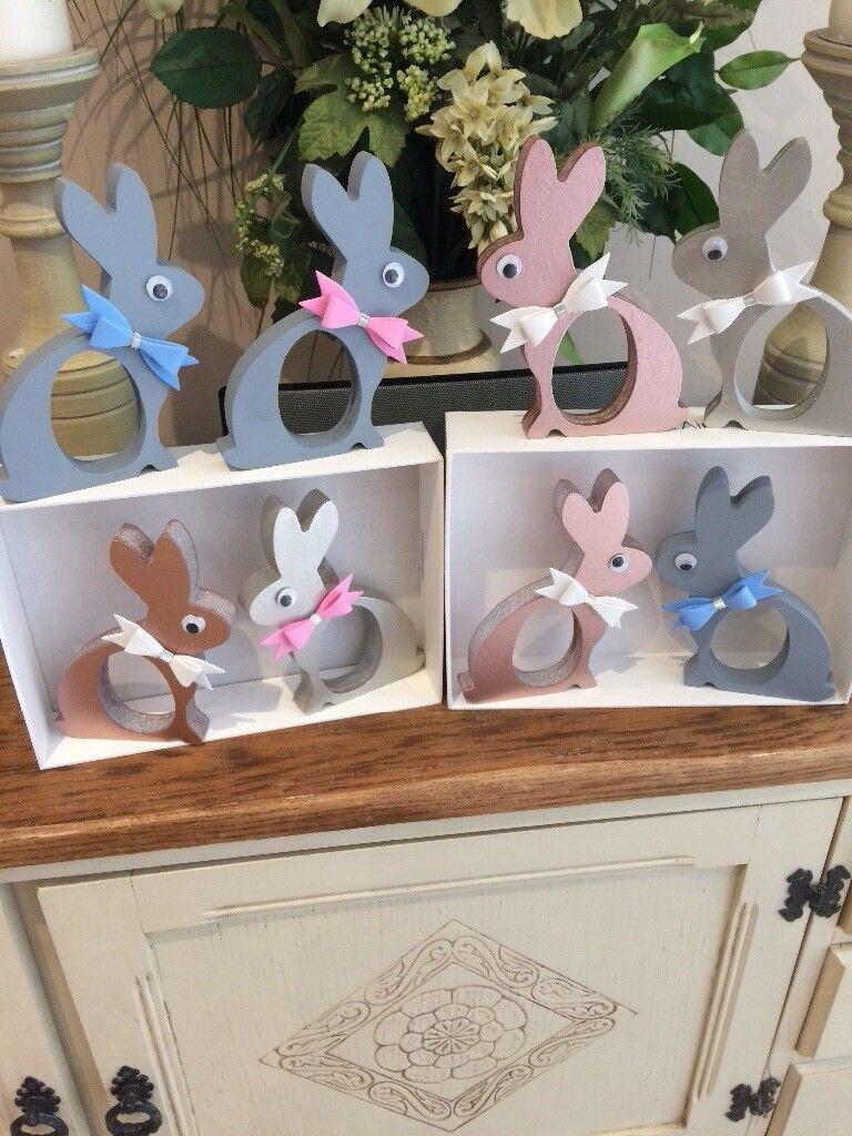 Handmade cute wood kinder egg holder bunnies for easter gifts handmade cute wood kinder egg holder bunnies for easter gifts negle Image collections