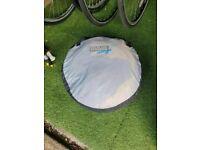 NSAuk Standard Pop Up Travel Cot Small Blue 0-2 Years - Portable BabyCrib