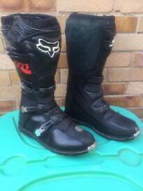 Mens Fox Motor Cross Boots. UK Size 11.