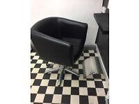 2x salon basin & chairs 3x hydraulic styling chairs 3x footrests