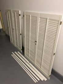 REDUCED TO SELL -HIGH QUALITY PLANTATION STYLE WOODEN SHUTTERS