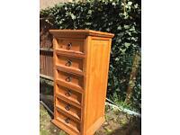 Tall pine chest