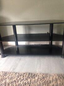 Black. Glass TV unit