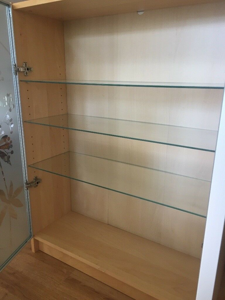 Billy Bookcase With Morliden Glass Doors And Glass Shelves Birch Finish In Corstorphine Edinburgh Gumtree
