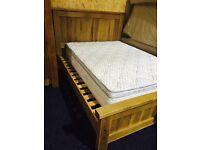 Solid OAK ( EX DISPLAY) wardrobe and 5ft bed frame