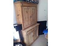 Antique pine original Linen Press dresser