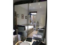 £150 Large PAX Ikea Wardrobe 2x2,5m Mirrored Doors