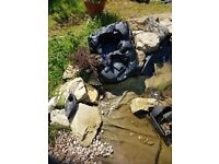 POND WATERFALL UNUSED - BLACK VERY GOOD CONDITION
