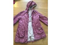 Girl wax coating Raincoat Mauve 7 year (122cm) from SERGENT MAJOR