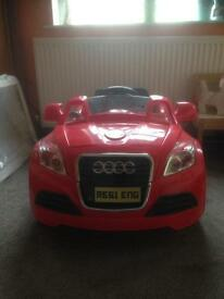 Child's Battery Powered Audi Remote Control Car
