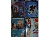 X4 DVD Just My Luck/Sisters Keeper/She's The Man/Little Vampire
