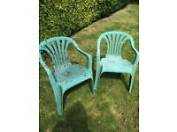 2 Green Garden Chairs - Free