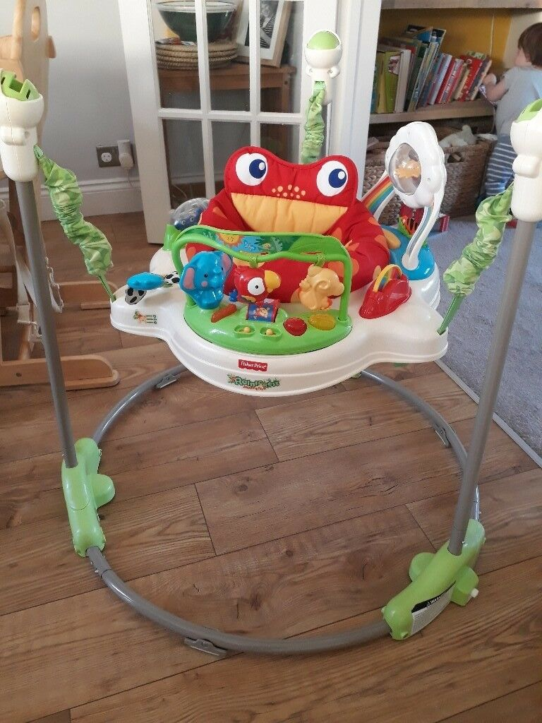 980f4ffba43b Rainforest Jumperoo Bouncer - Fisher Price - good condition
