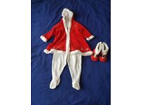 6-9 month Miss Claus christmas outfit