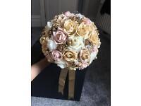 Bridal bouquet / cream gold bouquet / flower bouquet