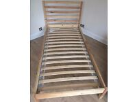 Single Bed frame IKEA TARVA with or without Mattress (please see all photos and text)