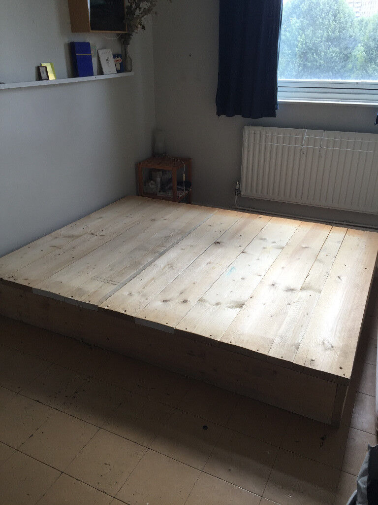 Hand Made Bed Frame 1 6 X 2 10m Scaffold Boards In Bow London