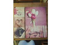 Lightweight canvas art prints - pink floral designs
