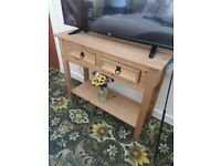 Wood effect TV Unit with 2 drawers