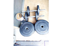 Physionics Dumbbell Barbell Bar Weights Home Gym Fitness Strength