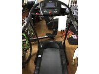 Used reebok ZR9 treadmill, has built in jack and speakers for music,