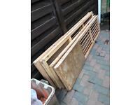 Sliding doors and rails (wood)