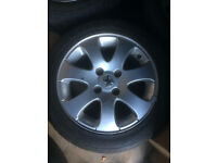 """4 x 15"""" Peugeot 307 Alloy Wheels 4 x 108 (all with good tyres 195/50 R15)"""